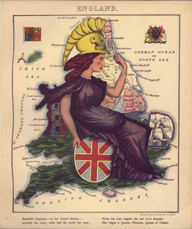 INGHILTERRA England Vincent Brooks poster riproduzione 32x45 anno 1870 007