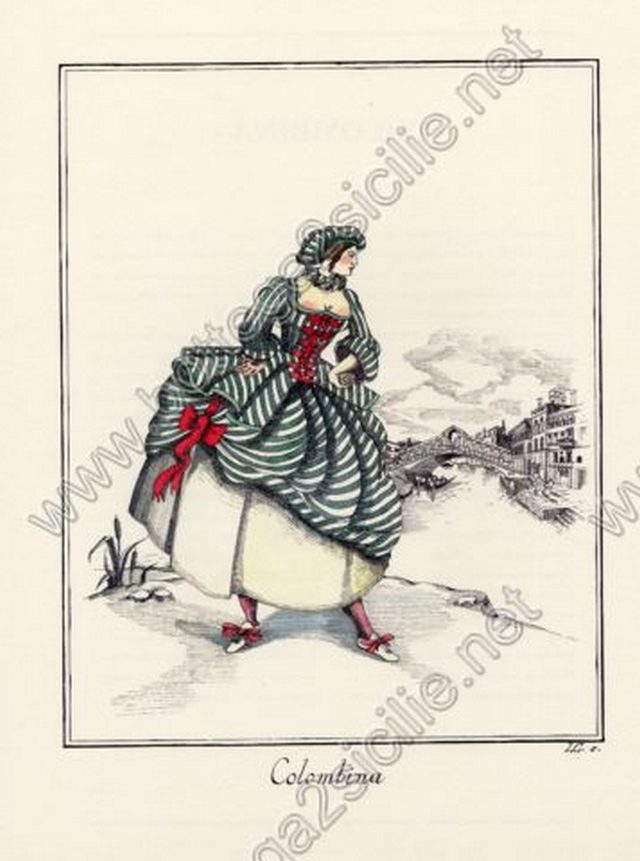 Maschere Colombina 056 Poster ristampa cm 32x45