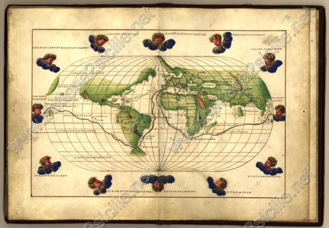 World Mappamondo Battista Agnese 1544 062