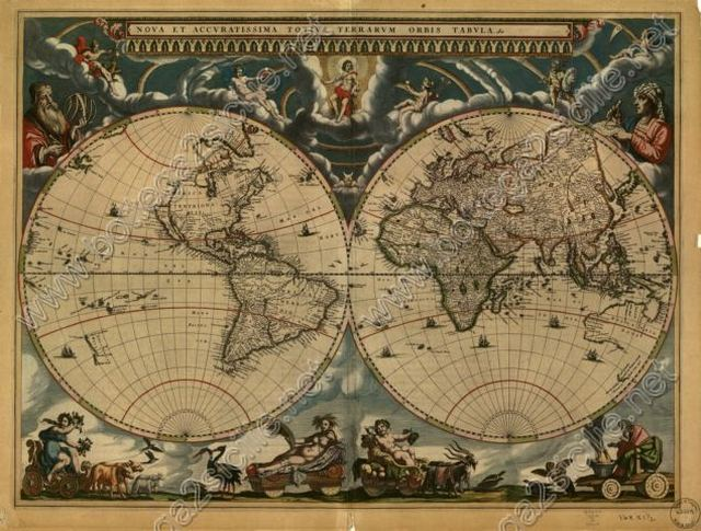 World Mappamondo Joan Blaeu 1664 066