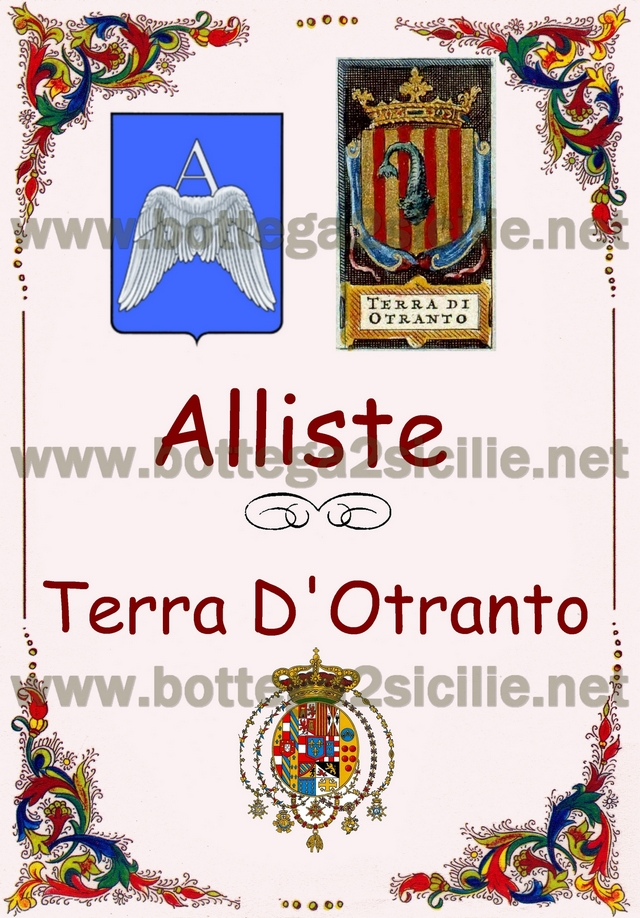 PERGAMENA ALLISTE TERRA D'OTRANTO GALLIPOLI REGNO 2 SICILIE LOVE YOU COMPRA SUD
